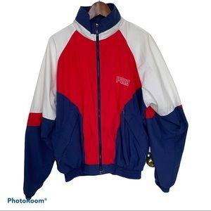 80's Puma Color Block Track Jacket Size Medium